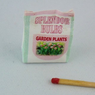 Bolsita miniatura semillas plantación casa muñeca