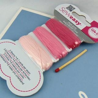 24 meters of pink silk floss