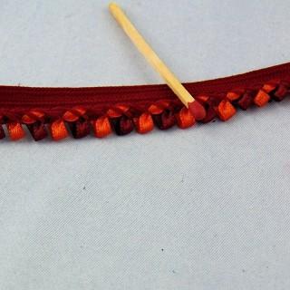 Galon passepoil à ruban plissé au mètre 13 mm