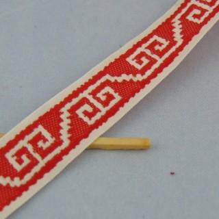 Gallone ethnisches Band aus Jute 15 mm am Meter.
