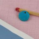 Pampille sequin en nacre teintée en turquoise 10 mm.