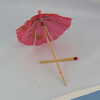 Parasol ombrelle en papier ouvre et ferme 10 cm