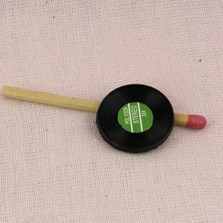 Platte 33 Miniaturmusikumdrehungen Puppe