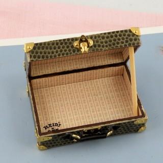 Valise miniature maison poupée 1/12 Heidi Ott