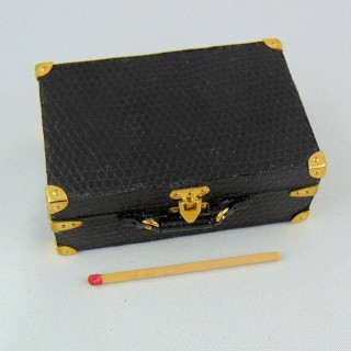 Miniature suitcase house doll 1/12 6 cm