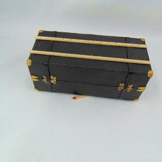 Koffer Miniaturkabine Puppenhaus 11 cm
