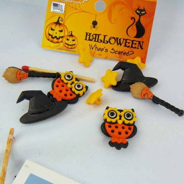 Boutons Halloween sorcière Dress it up