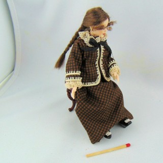 Miniature character doll 1/12 circa 1900
