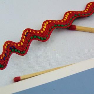 Galon ethnique croquet zig zag 12 mm