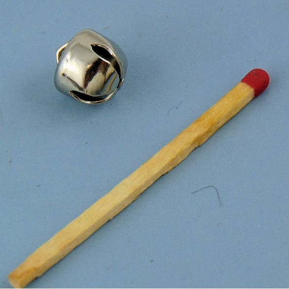 Cascabel miniatura metal muñeca 10 mm.