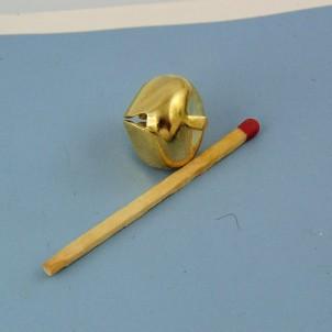 Grelot miniature métal poupée 15 mm.
