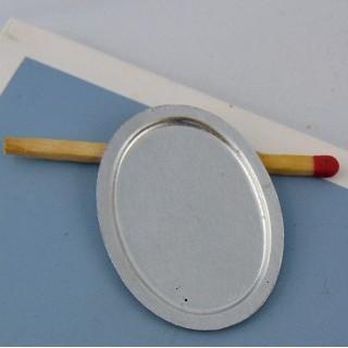 Plateau miniature ovale en métal 3 cm