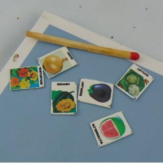 Sachets miniatures graines plantation maison poupée