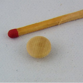 10 Small Wooden shank buttons 1 cm