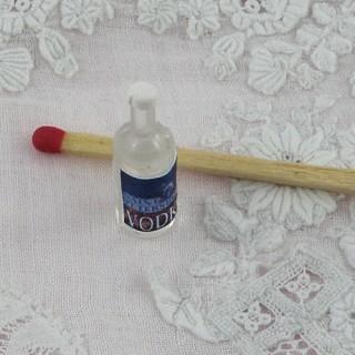 Bouteille Vodka miniature maison poupée