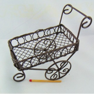 shopping metal cart miniature
