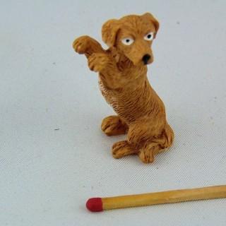 Plastic Labrador dog dollhouse animal miniature 2 cm,