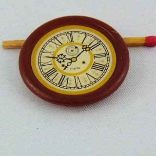 Pendule miniature rétro 4 cm