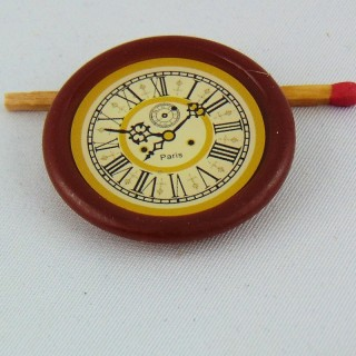 Wall clock miniature for dollhouse kitchen