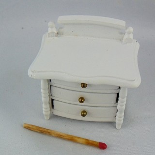 Miniature night table bedside painted wood