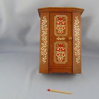 Schrank altes Miniatur- bewegliches Haus Kindspielzeug