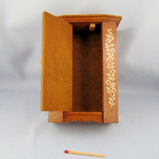Miniature old cupboard furnishs house toy child