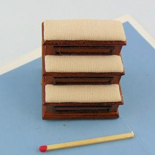 Taburete de zapatero miniatura taburete miniatura casa de muñecas 1/12