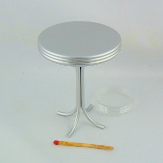 Bar marble round table miniature, doll house furniture