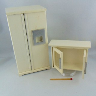Miniature Kitchen set dollhouse 1/12