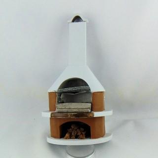 Barbecueavec cheminée miniature 1/12