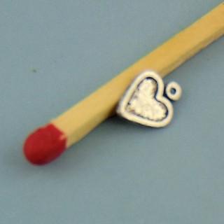 Anhänger kleines Herz Ohrgehänge 7 Millimeter