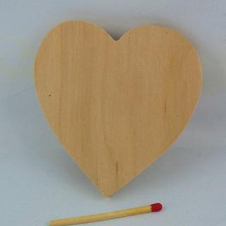 Großes rohes Herz aus Holz 8 cm
