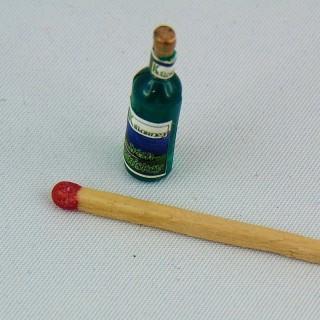 Botella miniatura casa muñeca