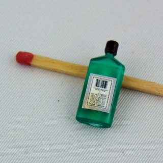 Miniature bottle for doll house 4 cms