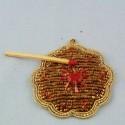 Ecusson ethnique brodé or badge 5 cm.