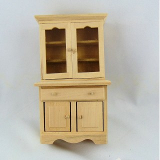 Miniaturbüfett kocht Puppenhaus