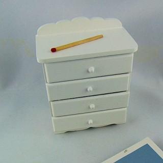 C0'moda miniatura casa muñecaedroom