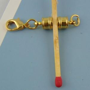 Attache magnétique deux parties et un mousqueton 7 mm