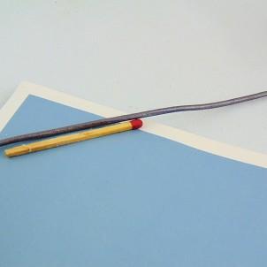 Cordon lacet 2 mm cuir métallisé au mètre