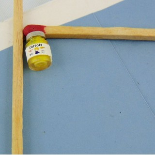 Azucarero miniatura casa muñeca 2 cm.
