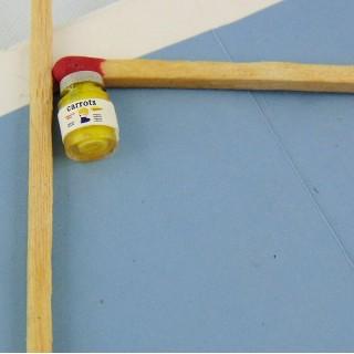 Tiny sugar shaker miniature for doll house, 2,5 cms.