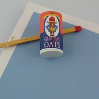 Porridge Quaker oats miniature maison poupée