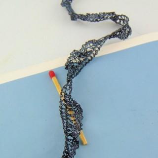 Flounced ribbon wrinkled rustle 14 mms