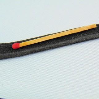 Ribete satén negro 6 mm.
