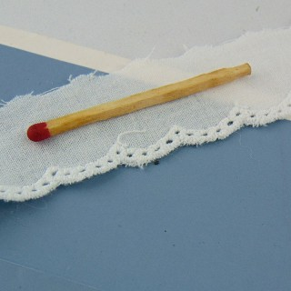 Flat Eyelet cotton, with holes, 8 mms sell by meter.