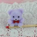 Flocked pastel bear mini 3 cm, 30mm