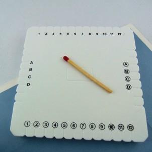 Kumihimo plaque carrée de 10 cm