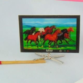 Télévision écran plat miniature maison poupée