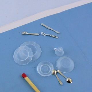 Dienst rechnet aus Plastik Miniatur Puppenhaus 40 Stücke.