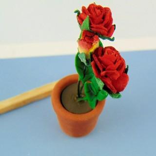 Pot plante tulipe miniature maison poupée 35 mm,